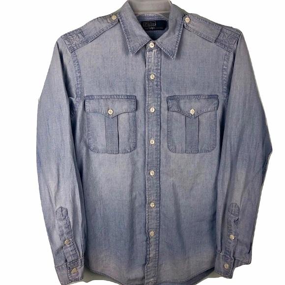 Denim Western Lauren Jean Blue Shirt Polo Ralph S oBCQeWrdx